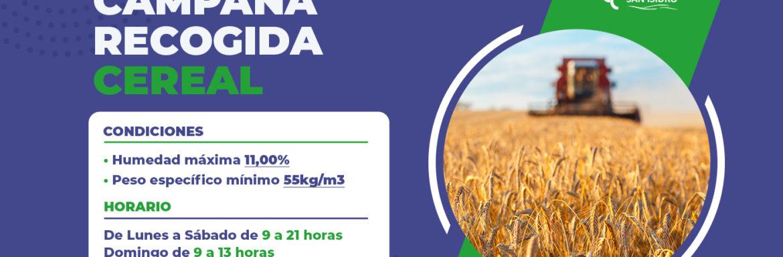 Campaña Recogida Cereal 2020